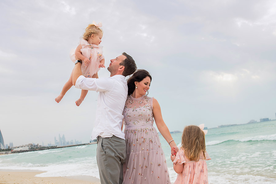 Family beach photography in UAE