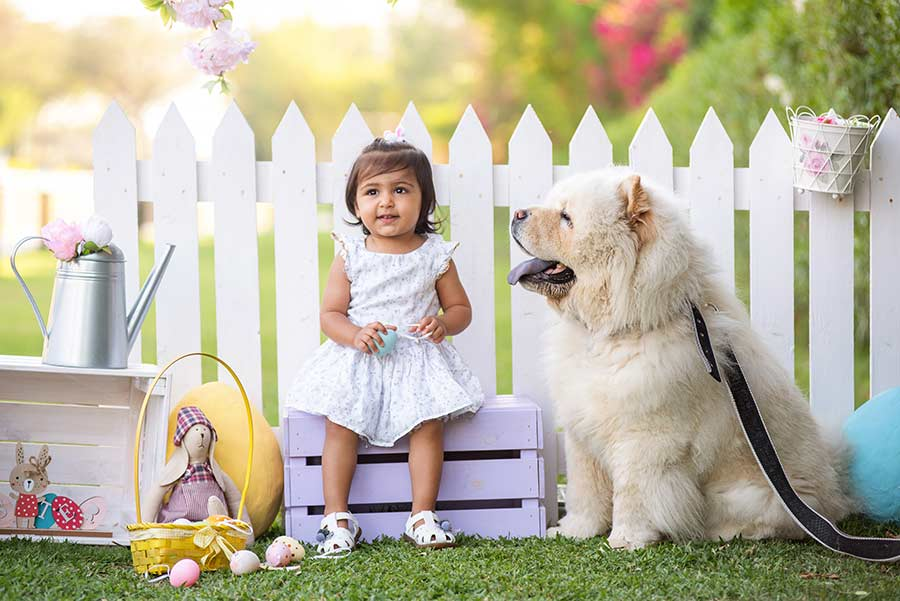 Easter kids photography in Dubai